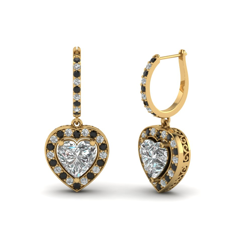 Stunning Heart Shaped Earrings | Fascinating Diamonds