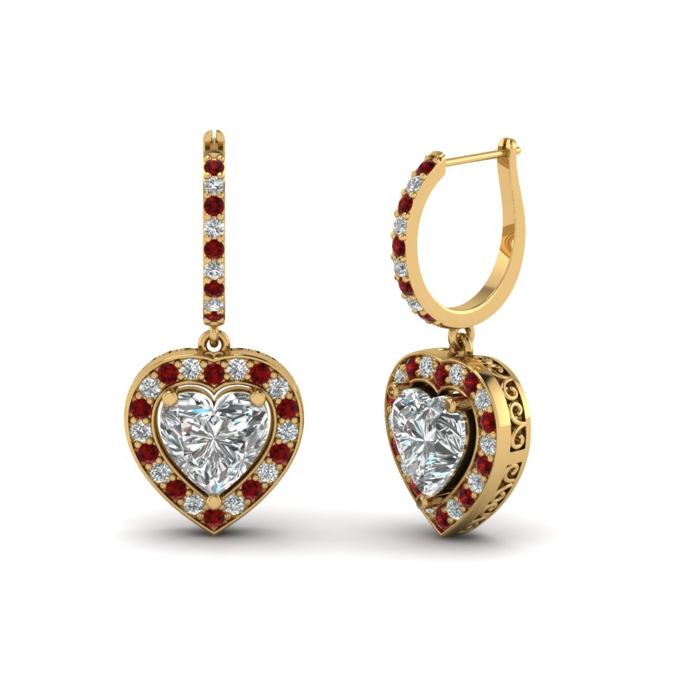 Shop For Custom Designed Ruby Earrings