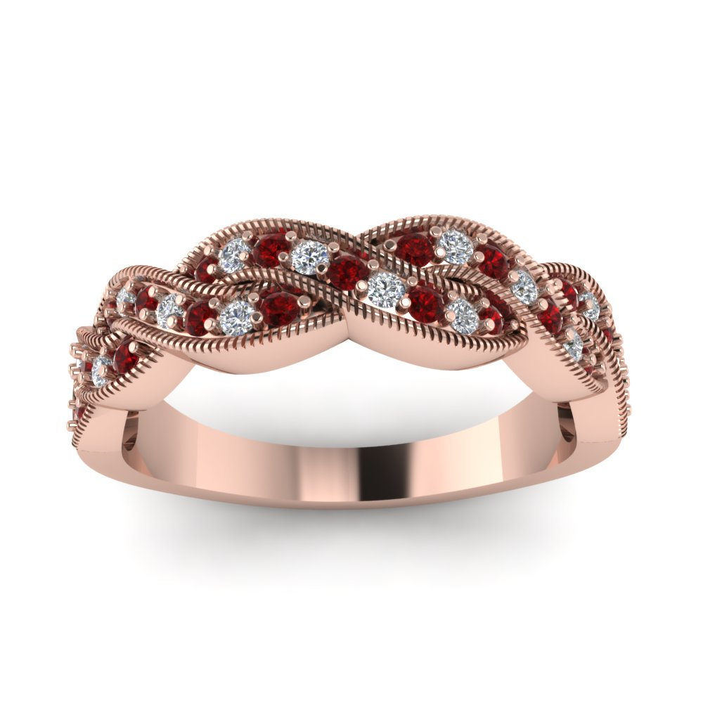 Womens Rose Gold Wedding Rings