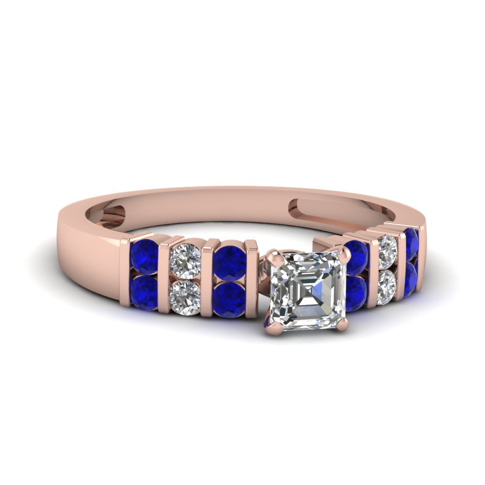 Sapphire Bar Set Wedding Ring