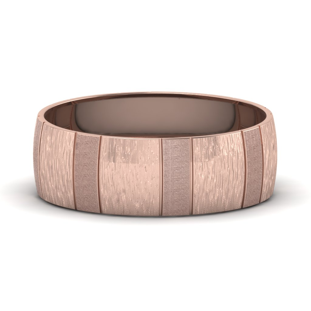 rose-gold-carved-cross-satin-finish-mens-wedding-band-FDM1153B-NL-RG