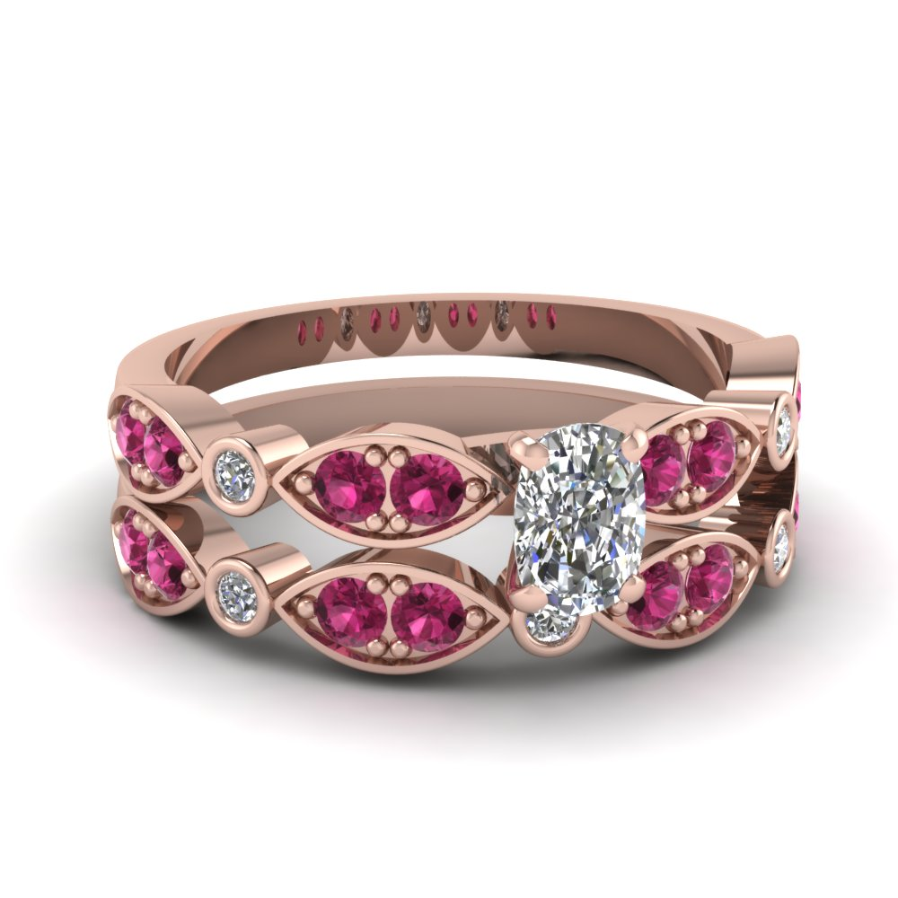 rose-gold-cushion-white-diamond-engagement-wedding-ring-with-dark-pink-sapphire-in-pave-bezel-set-FDENS2035CUGSADRPI-NL-RG