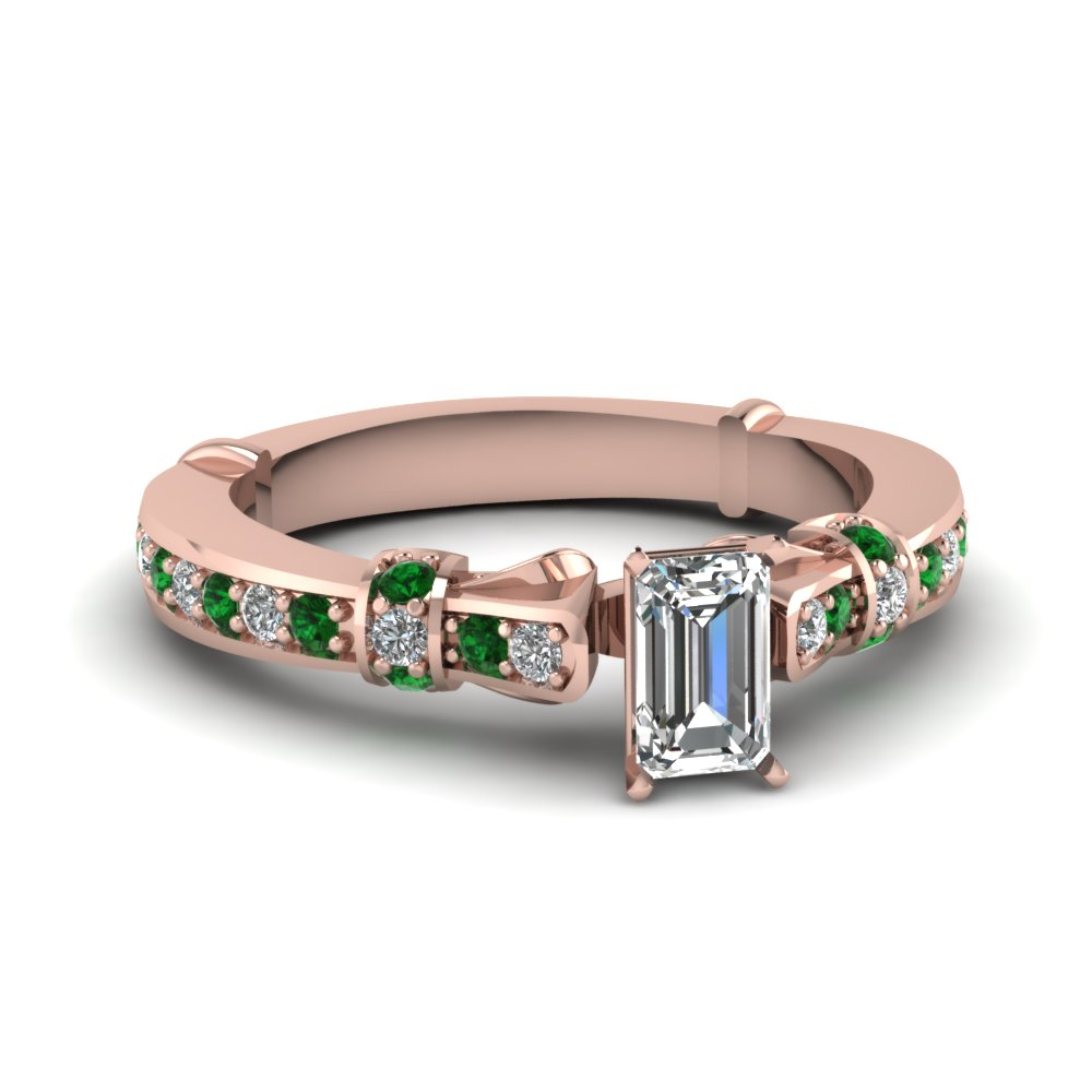 emerald cut antique high set diamond ring with emerald in FDENS3318EMRGEMGR NL RG.jpg