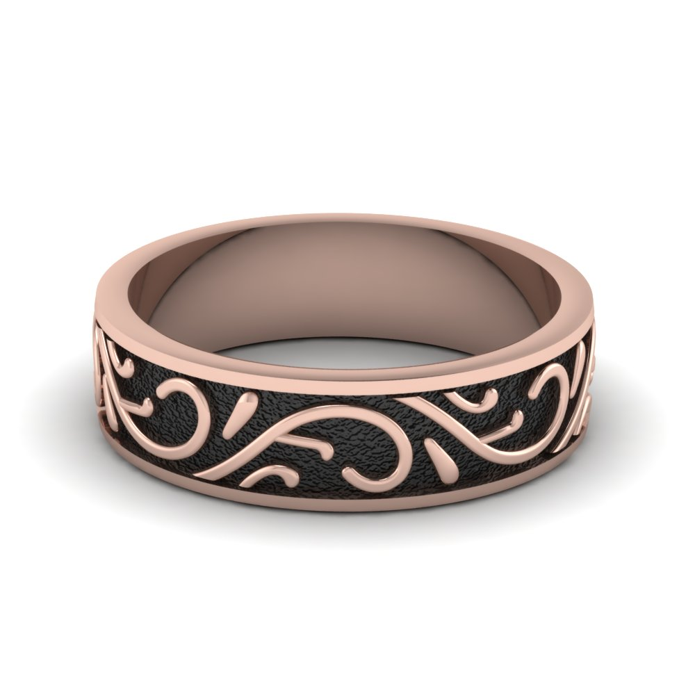 rose-gold-exquisite-design-mens-wedding-band-FDHM345B-NL-RG
