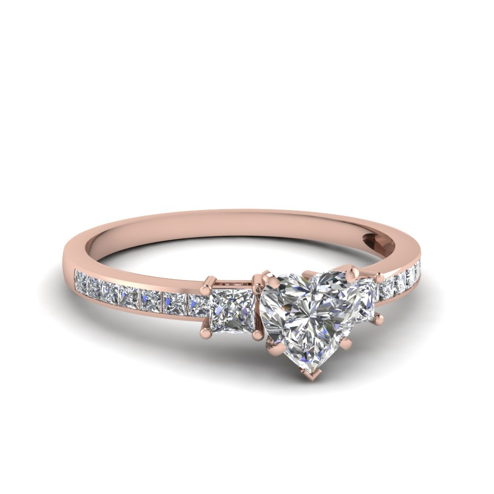 Heart Shaped Petite Engagement Rings