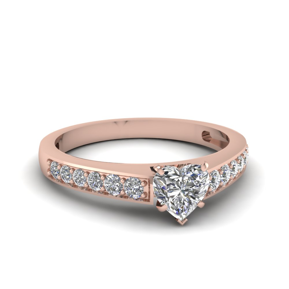 1/2 Ct. Heart Shaped Engagement Rings