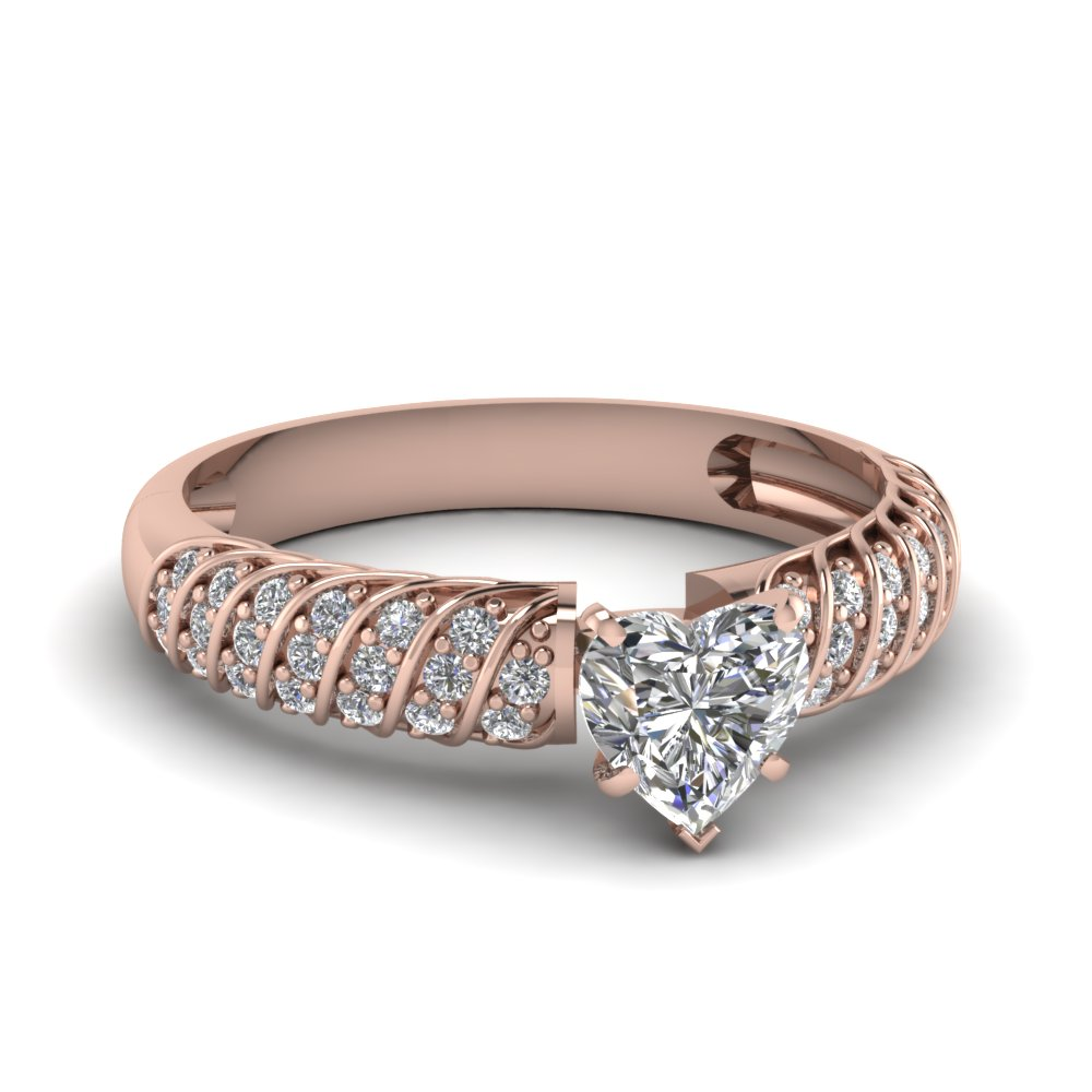 Rose Gold Rope Design Ring