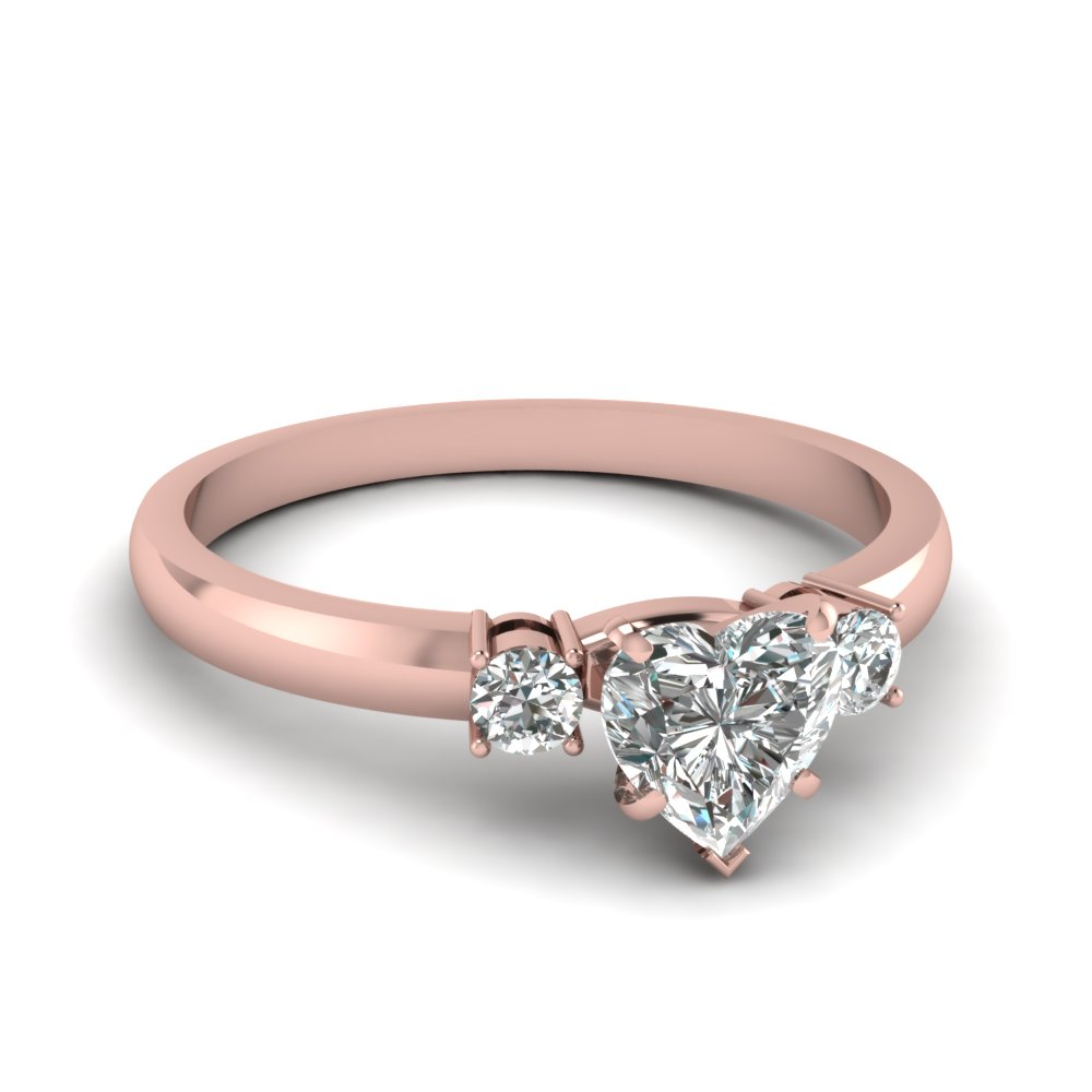 Heart Shaped 1/2 Ct. Diamond Engagement Ring