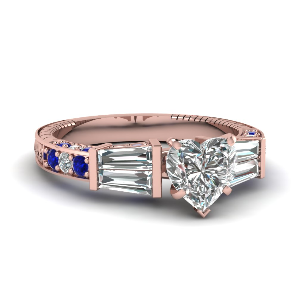 rose-gold-heart-white-diamond-engagement-wedding-ring-with-blue-sapphire-in-bar-pave-set-FDENS318HTRGSABL-NL-RG