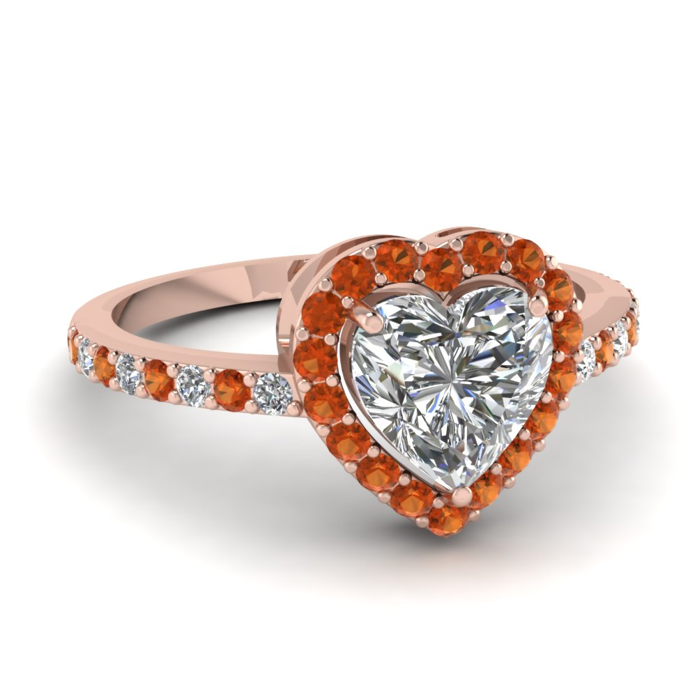 Buy affordable Orange Sapphire Jewelry from professionals jewelers | Fascinating Diamonds