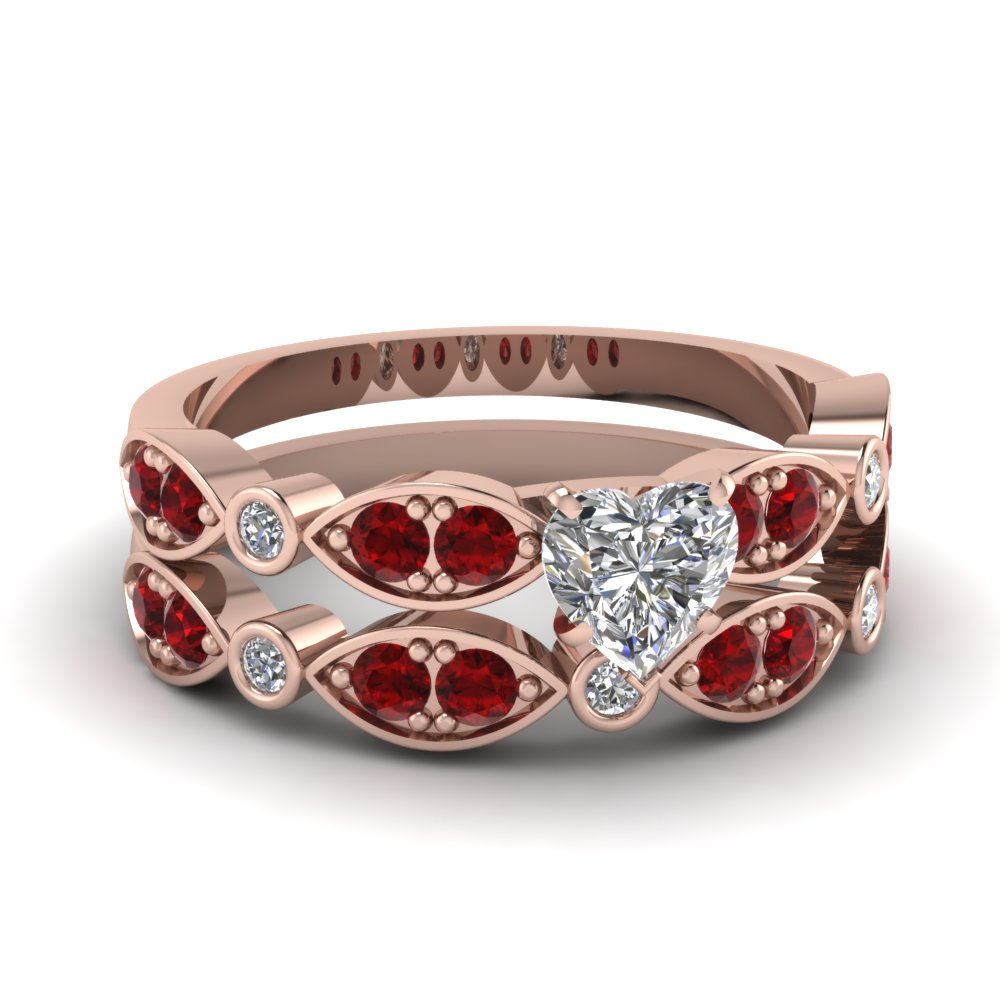 rose-gold-heart-white-diamond-engagement-wedding-ring-with-red-ruby-in-pave-bezel-set-FDENS2035HTGRUDR-NL-RG