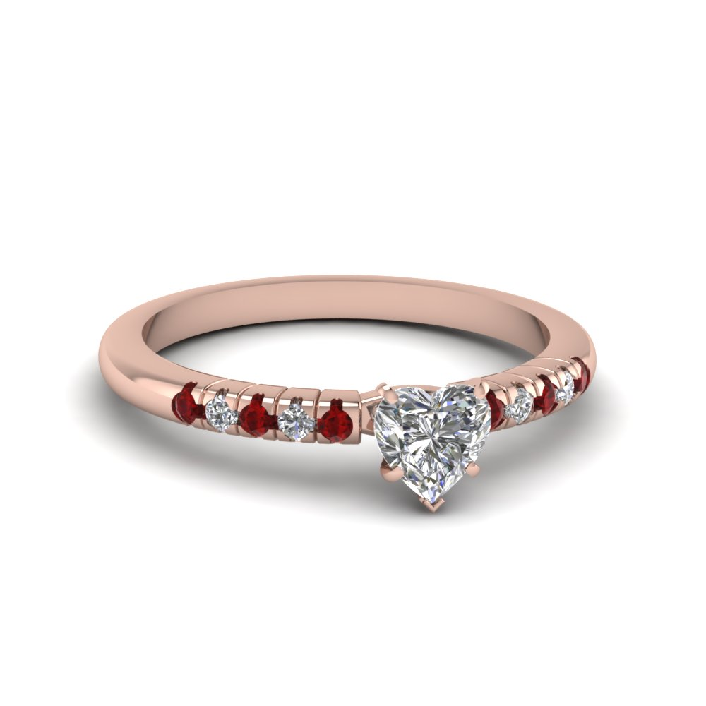 Heart Shaped French Pave Ring