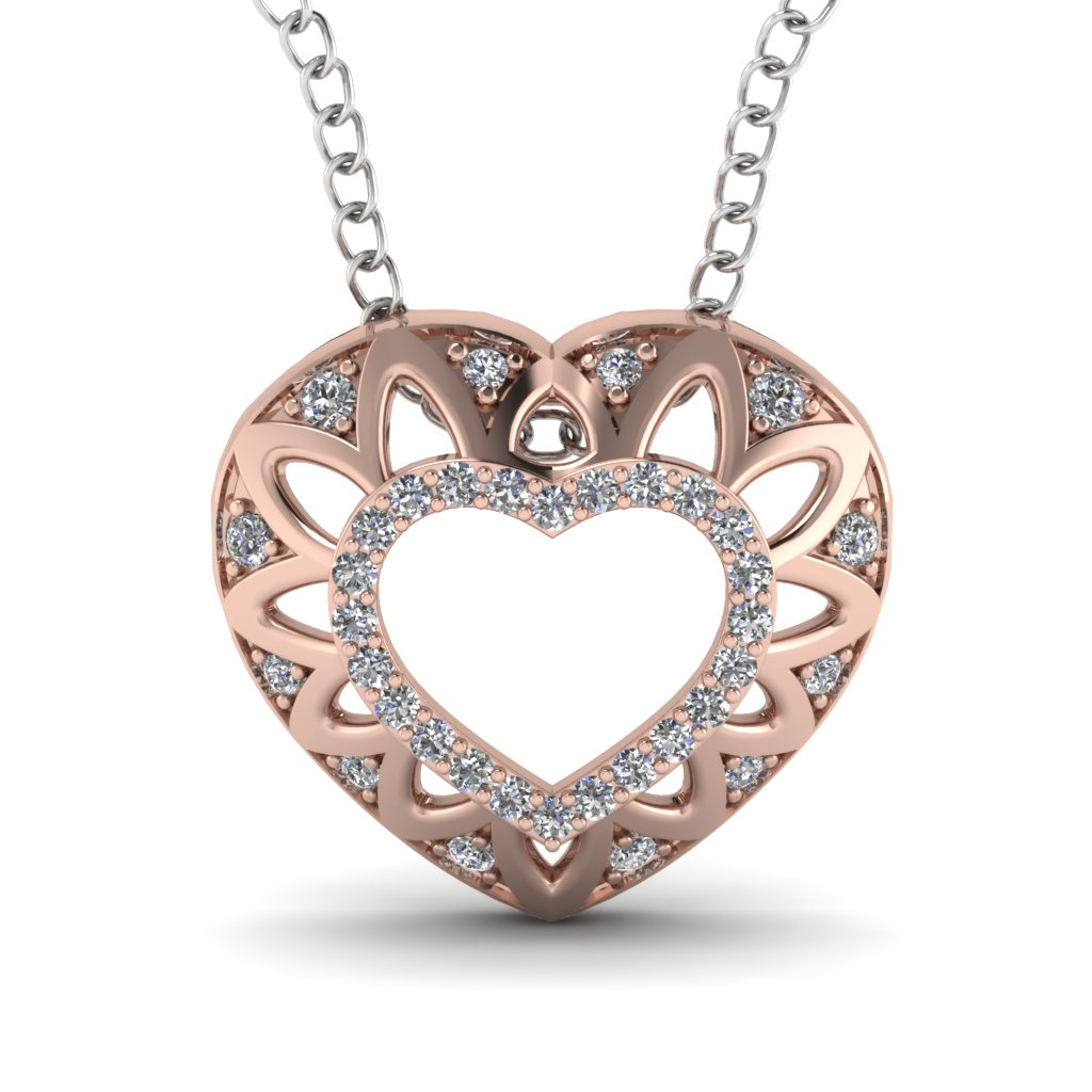 Gorgeous Diamond Heart Pendant