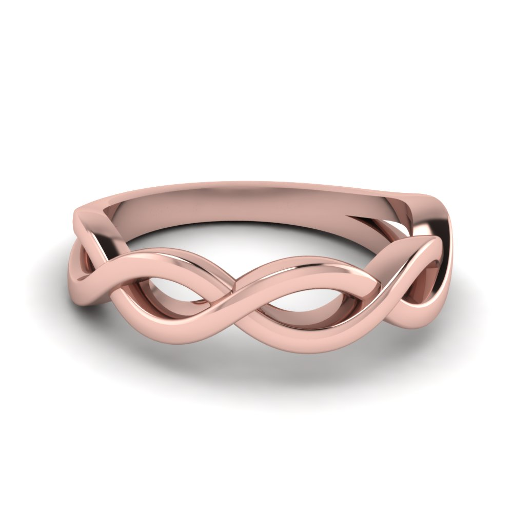 plain infinity wedding band in FD1080B NL RG