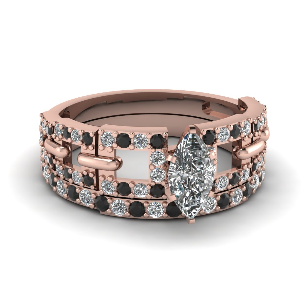 rose-gold-marquise-white-diamond-engagement-bridal-ring-with-black-diamond-in-pave-set-FDENS3005MQGBLACK-NL-RG