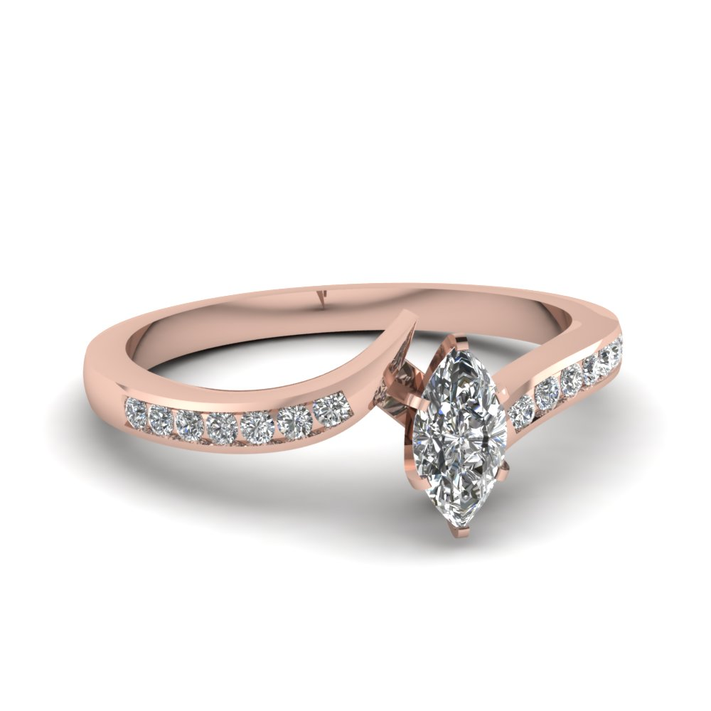 Engagement Rings Half Ct. Marquise Cut