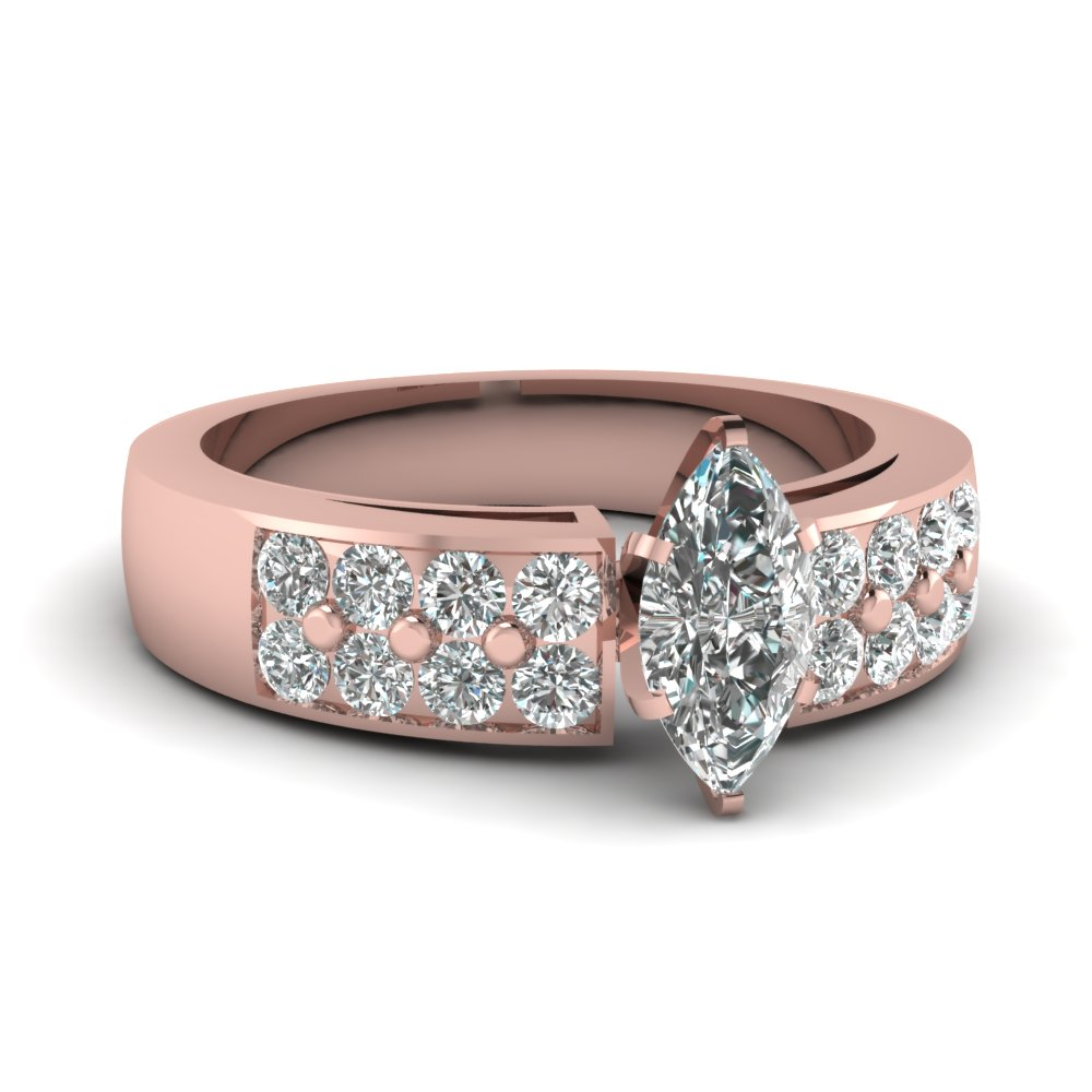 Pave Set Marquise Diamond Ring
