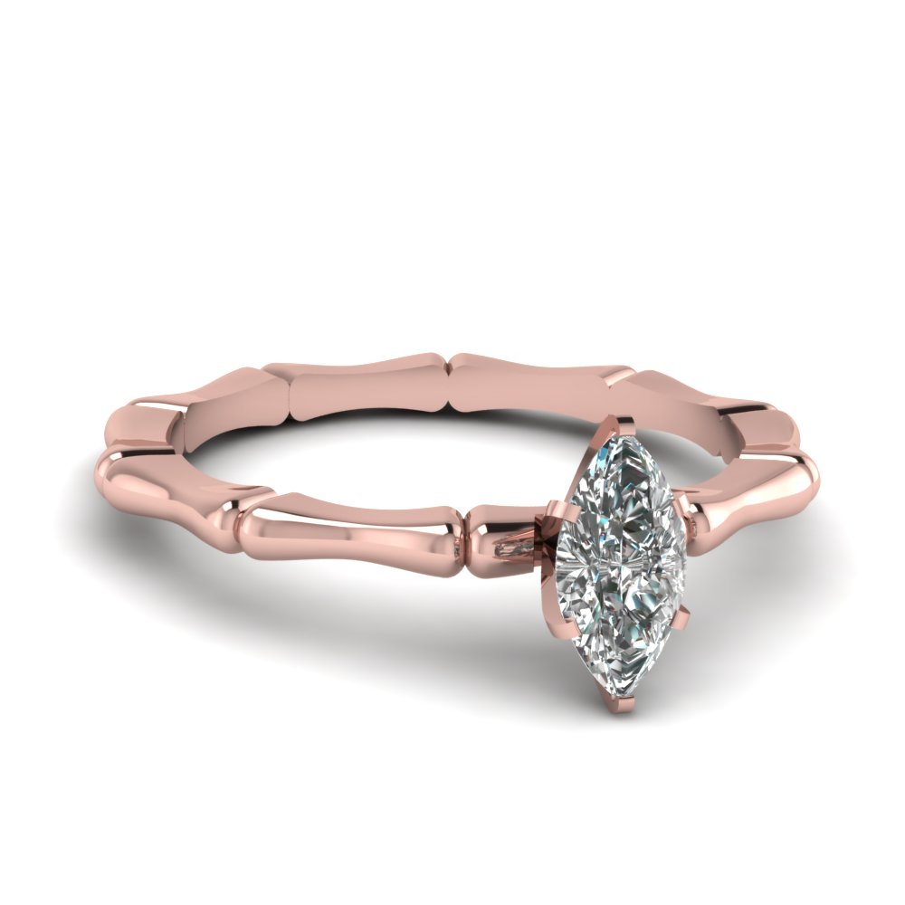 Cheap Rose Gold Real Diamond Engagement Ring