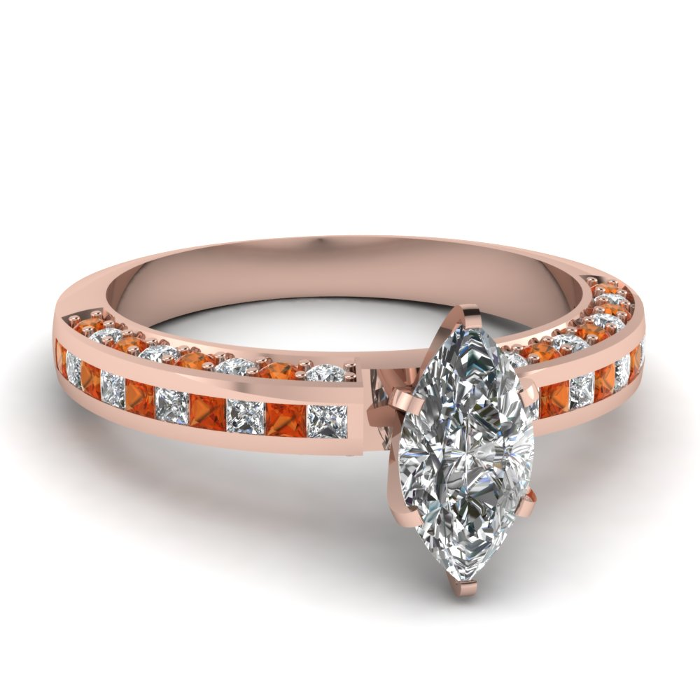 Rose Gold Sapphire & Diamond Rings Women