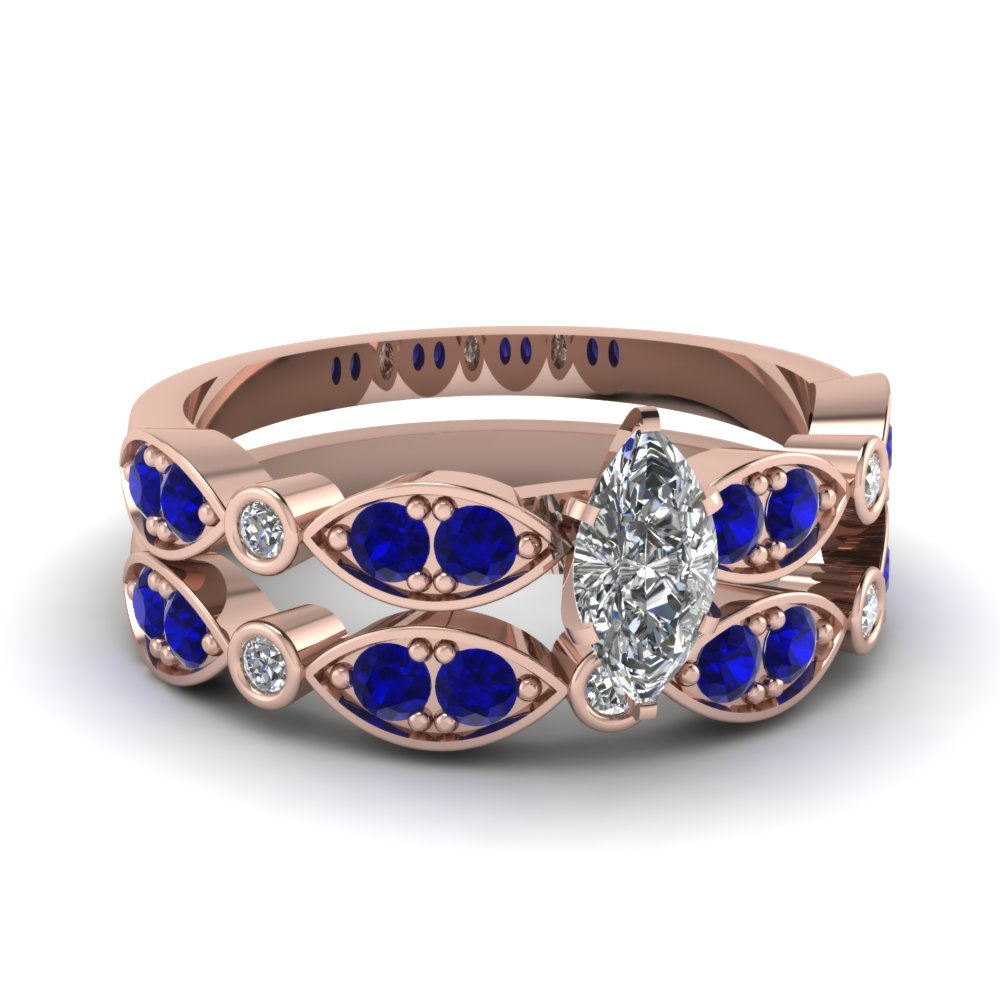 rose-gold-marquise-white-diamond-engagement-wedding-ring-with-blue-sapphire-in-pave-bezel-set-FDENS2035MQGSABL-NL-RG