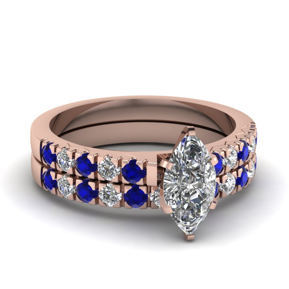 scalloped pave marquise diamond wedding ring set with sapphire in FDENS1972MQGSABL NL RG