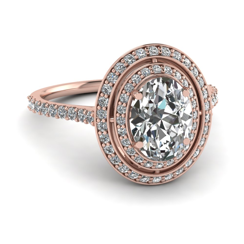 Micropave oval halo diamond engagement ring in 14k rose gold micropave oval halo diamond engagement ring in fd121992ovr nl rg junglespirit Choice Image