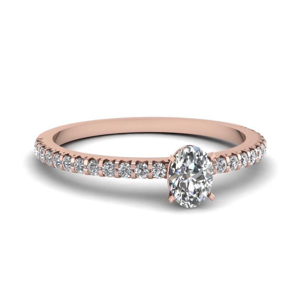 Floating Thin Diamond Engagement Ring