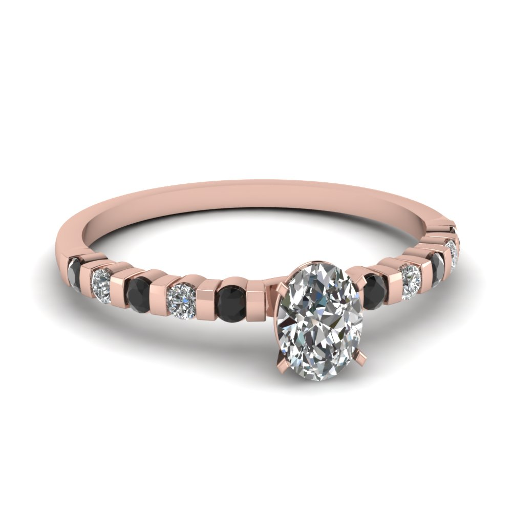 Bar Set 18k Rose Gold Petite Engagement Rings