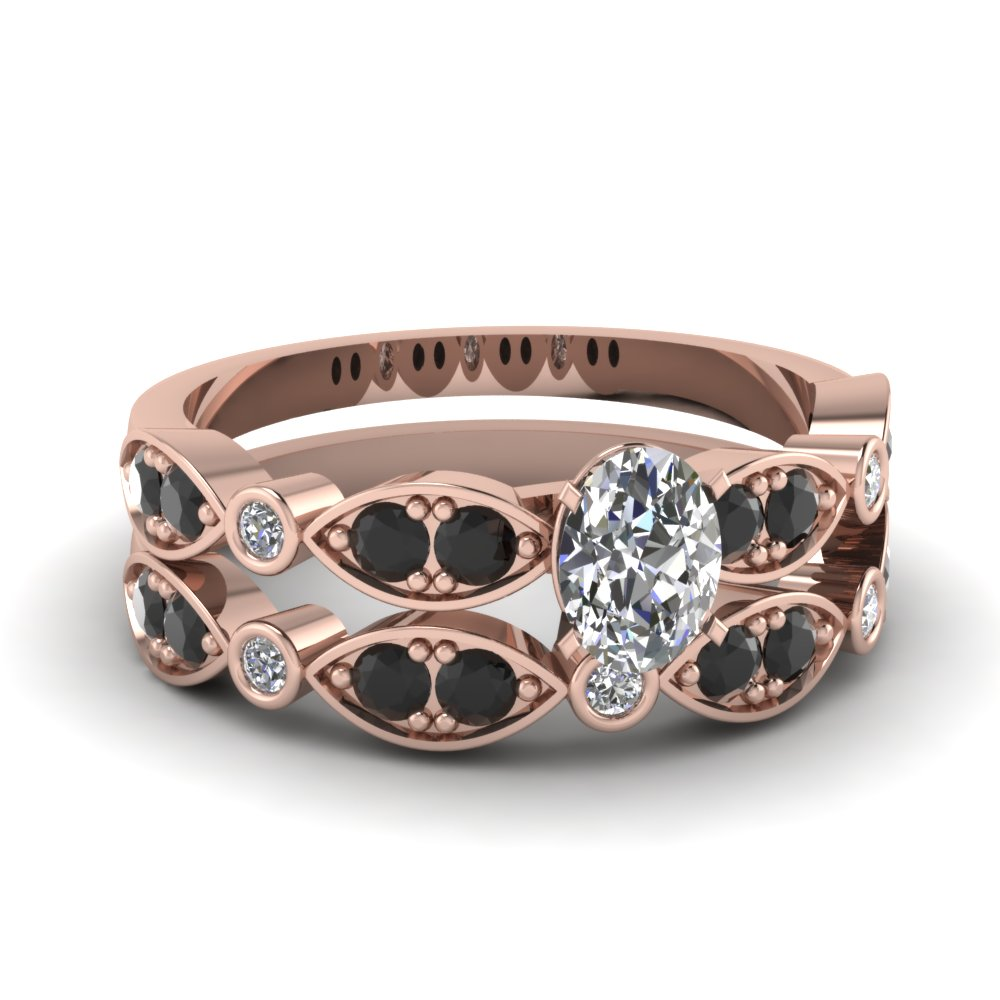 rose-gold-oval-white-diamond-engagement-wedding-ring-with-black-diamond-in-pave-bezel-set-FDENS2035OVGBLACK-NL-RG