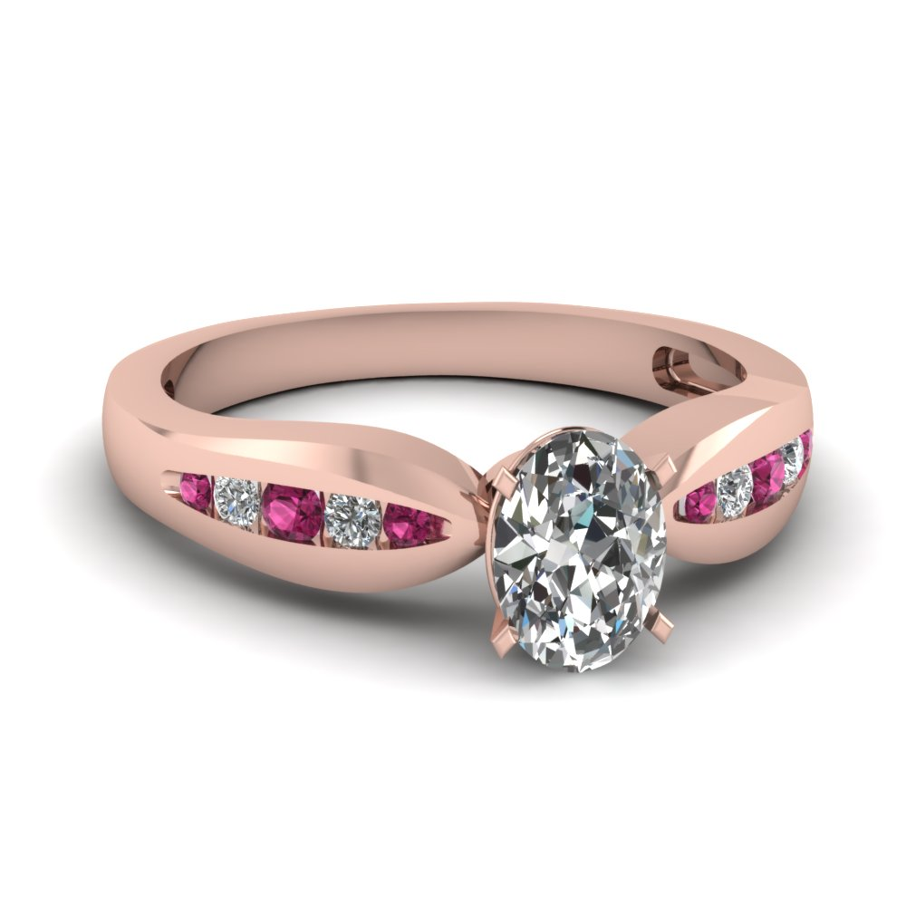 Buy Oval Shaped Diamond Side Stone Rings Online Fascinating Diamonds