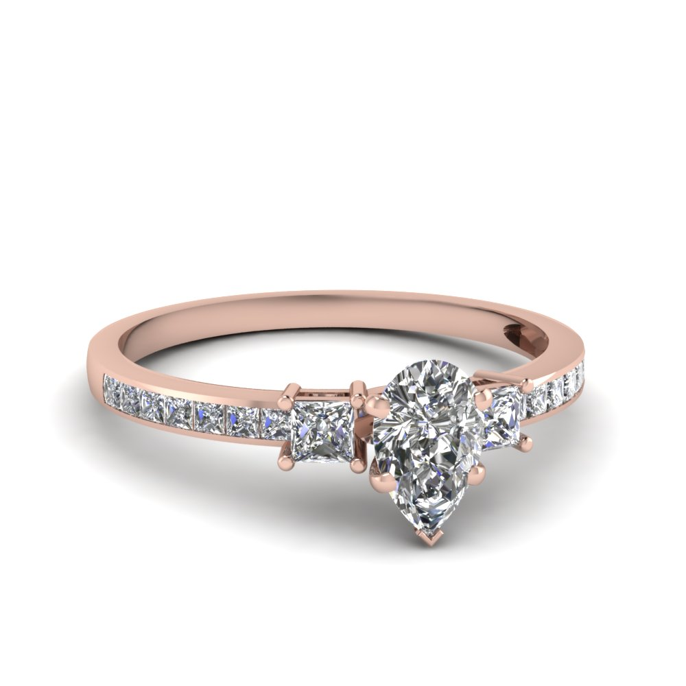 pear shaped engagement shared earth gold brilliant petite ring diamond wedding rings white prong