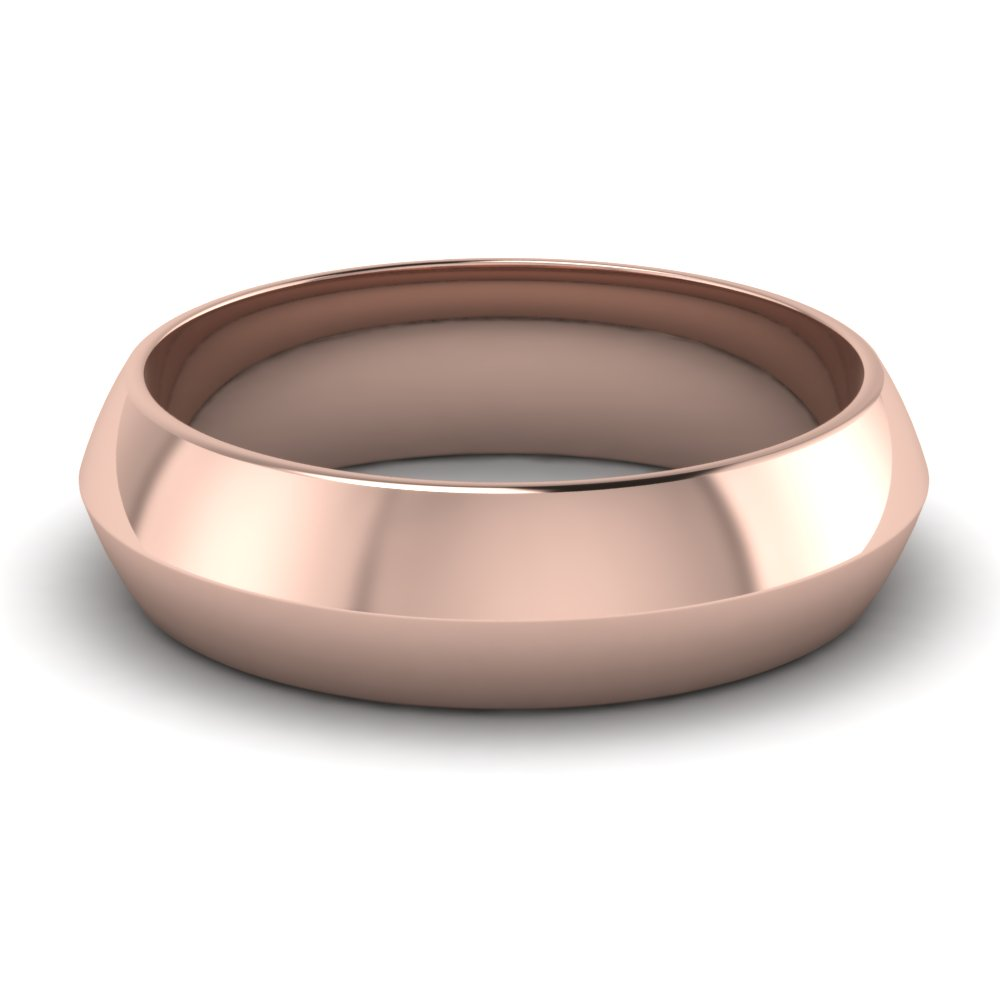 Mens Wedding Band Rose Gold
