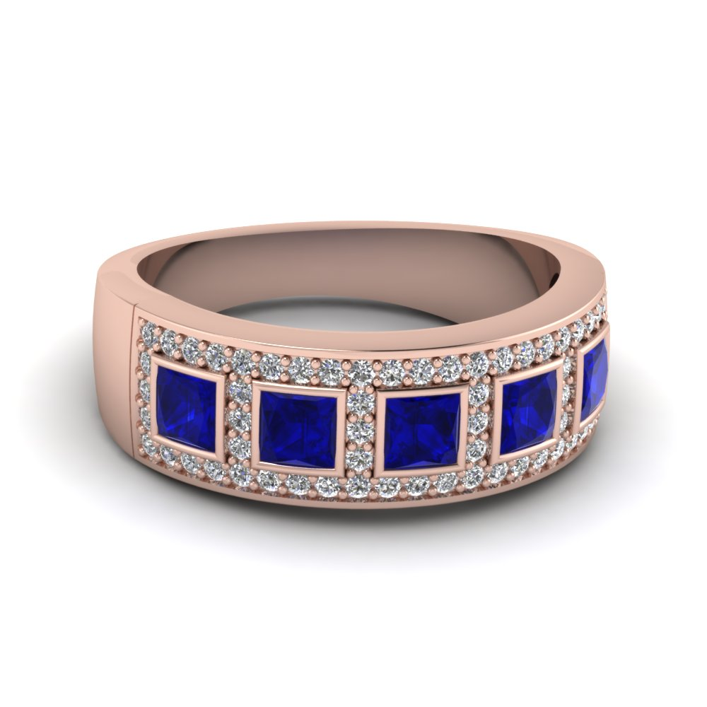 rose-gold-princess-blue-sapphire-wedding-band-with-white-diamond-in-bezel-pave-set-FD64034BGSABL-NL-RG