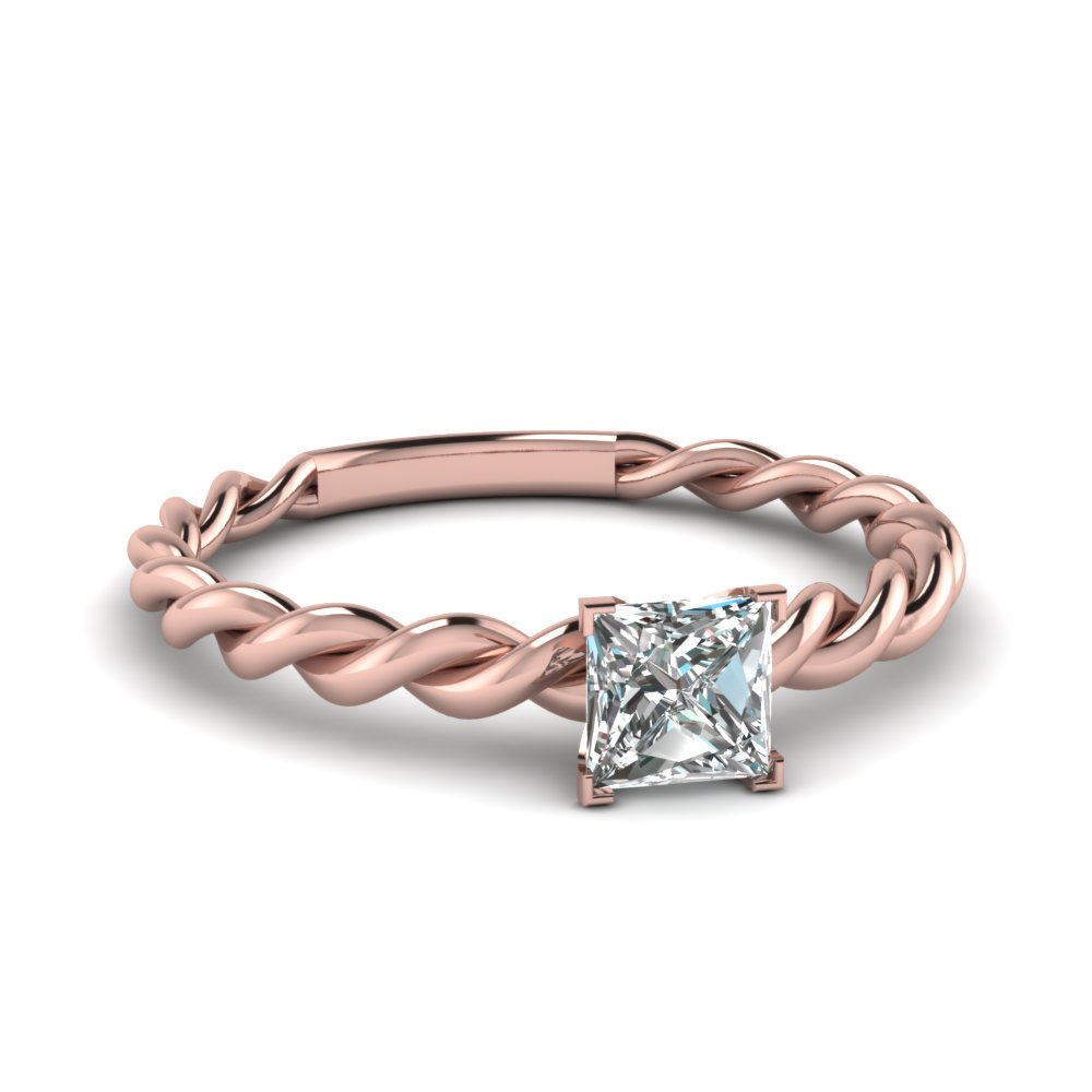 Princess Cut Rings Solitaire