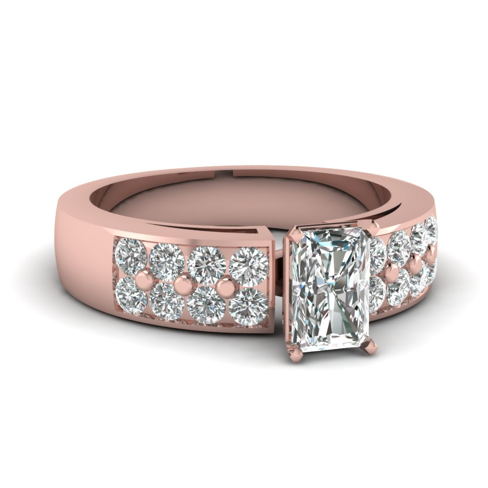 Pave Set Radiant Cut Diamond Ring
