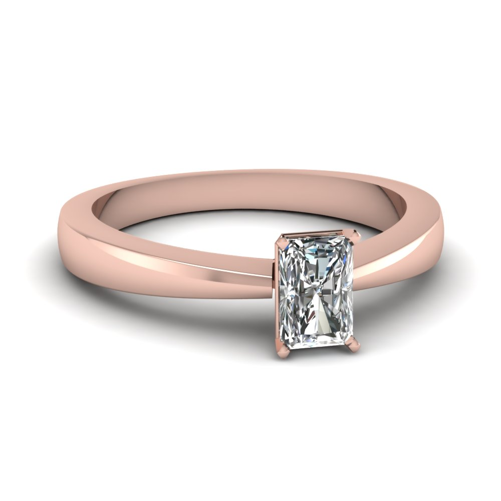 Radiant Cut Solitaire Engagement Rings