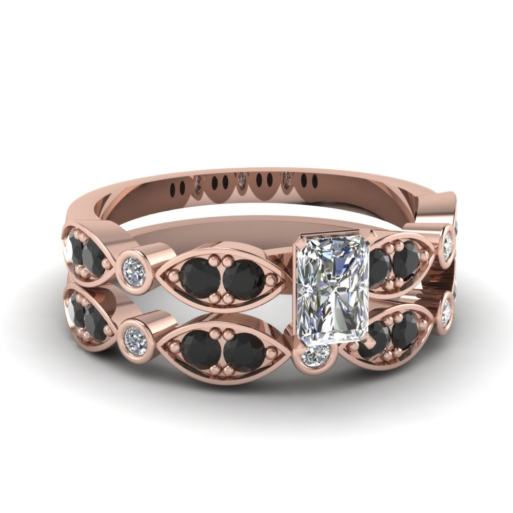rose-gold-radiant-white-diamond-engagement-wedding-ring-with-black-diamond-in-pave-bezel-set-FDENS2035RAGBLACK-NL-RG