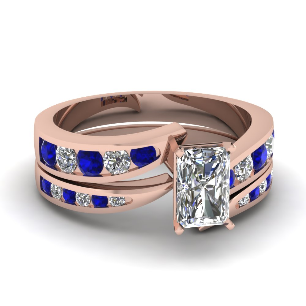 radiant cut swirl channel diamond bridal set with sapphire in FDENS4028RAGSABL NL RG.jpg