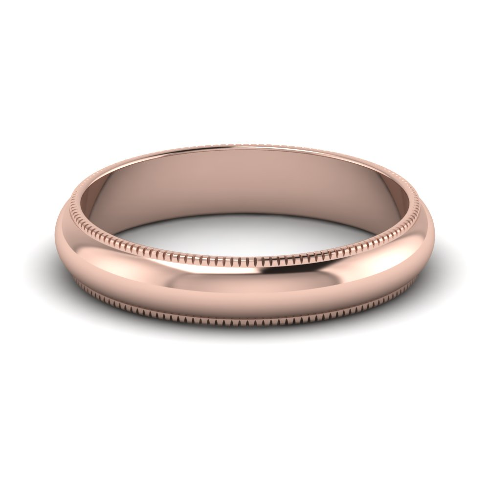 milgrain comfort fit wedding band 4mm in FDMG74MM NL RG