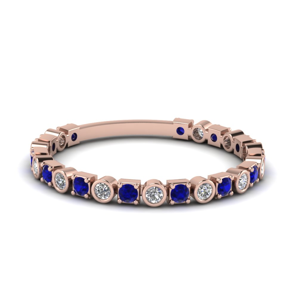 Rose Gold Sapphire Wedding Bands