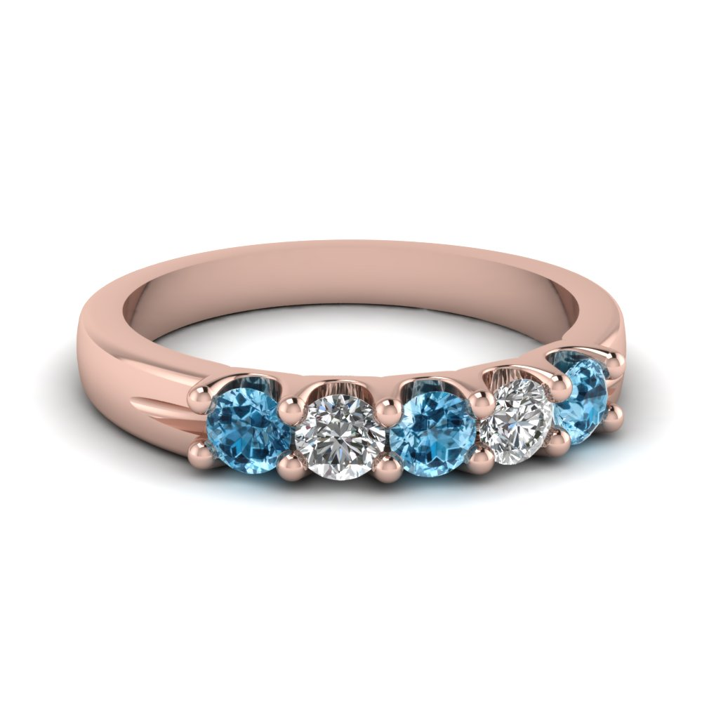 Rose Gold Topaz Band