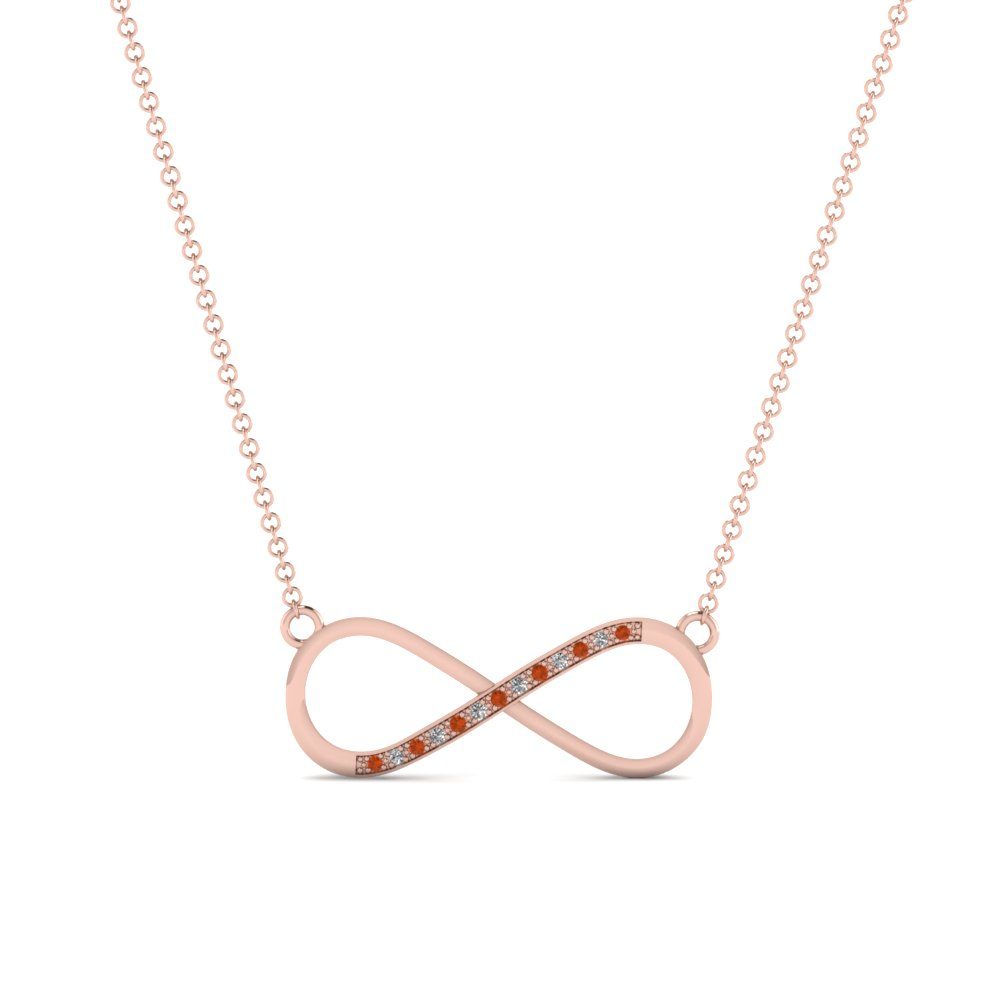 infinity diamond necklace pendant