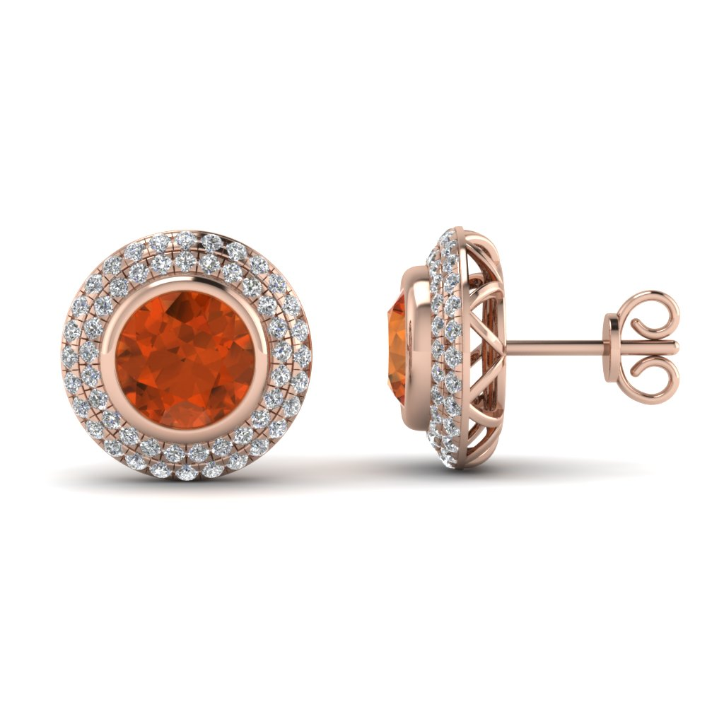 Angara Brown Diamond & White Diamond Earrings in Rose Gold RvjFfR