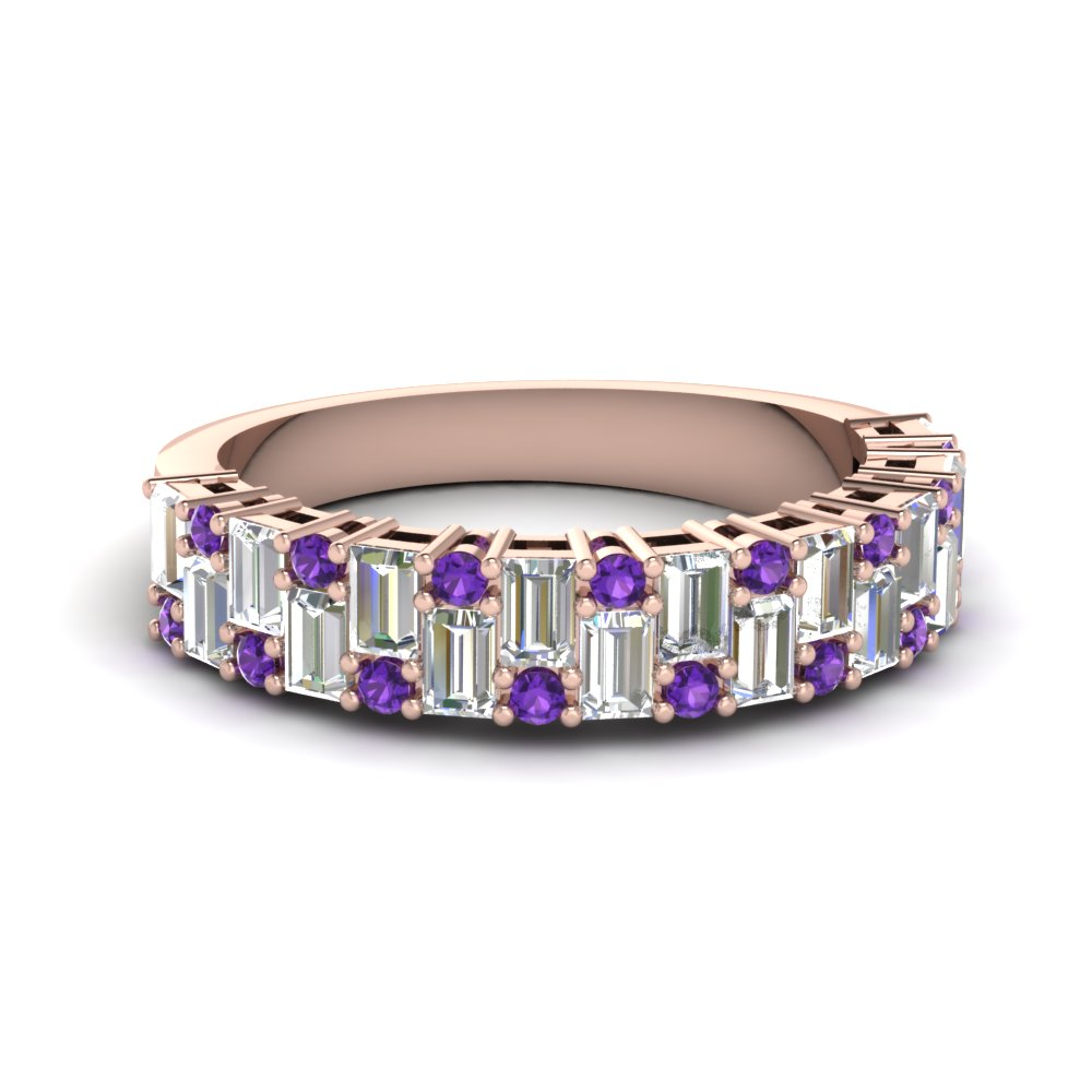 Explore Our Womens Wedding Bands with Purple Topaz At Affordable Prices