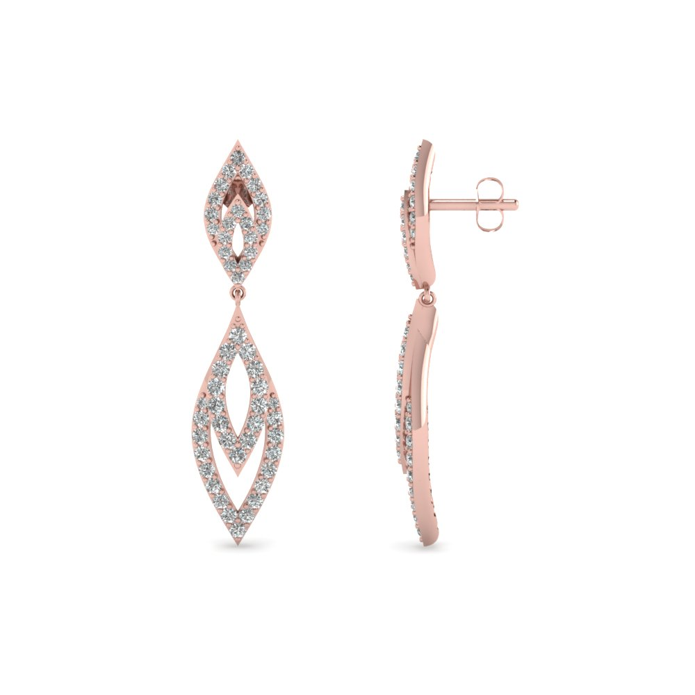Marquise Design Diamond Drop Earring