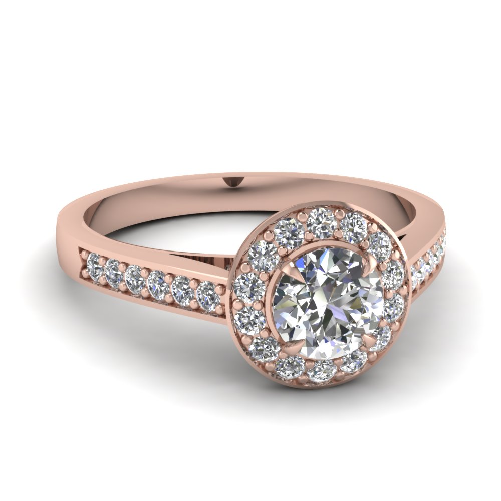 Beautiful Pave Halo Diamond Ring