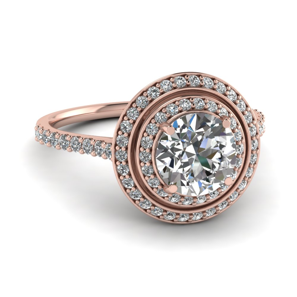 rose gold round white diamond engagement wedding ring - Oval Wedding Ring