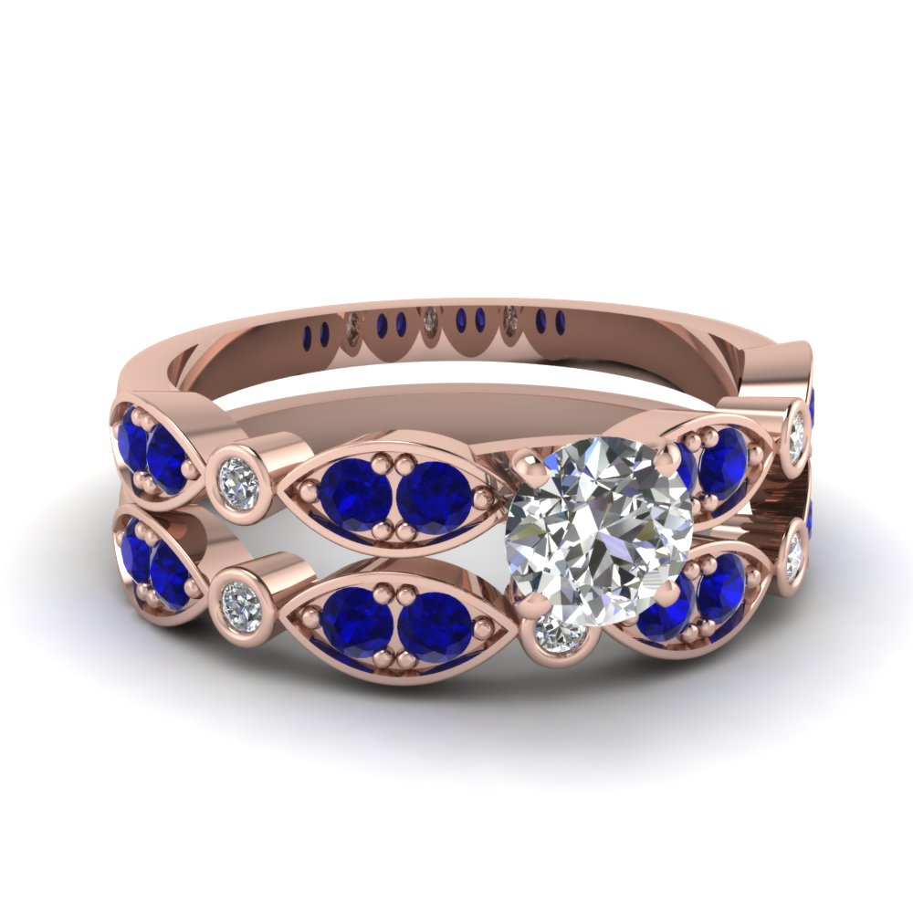 rose-gold-round-white-diamond-engagement-wedding-ring-with-blue-sapphire-in-pave-bezel-set-FDENS2035ROGSABL-NL-RG