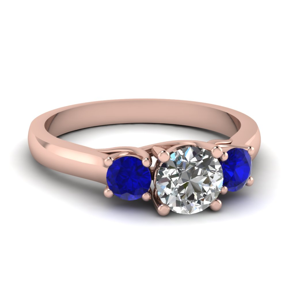 3 Stone Sapphire Engagement Rings