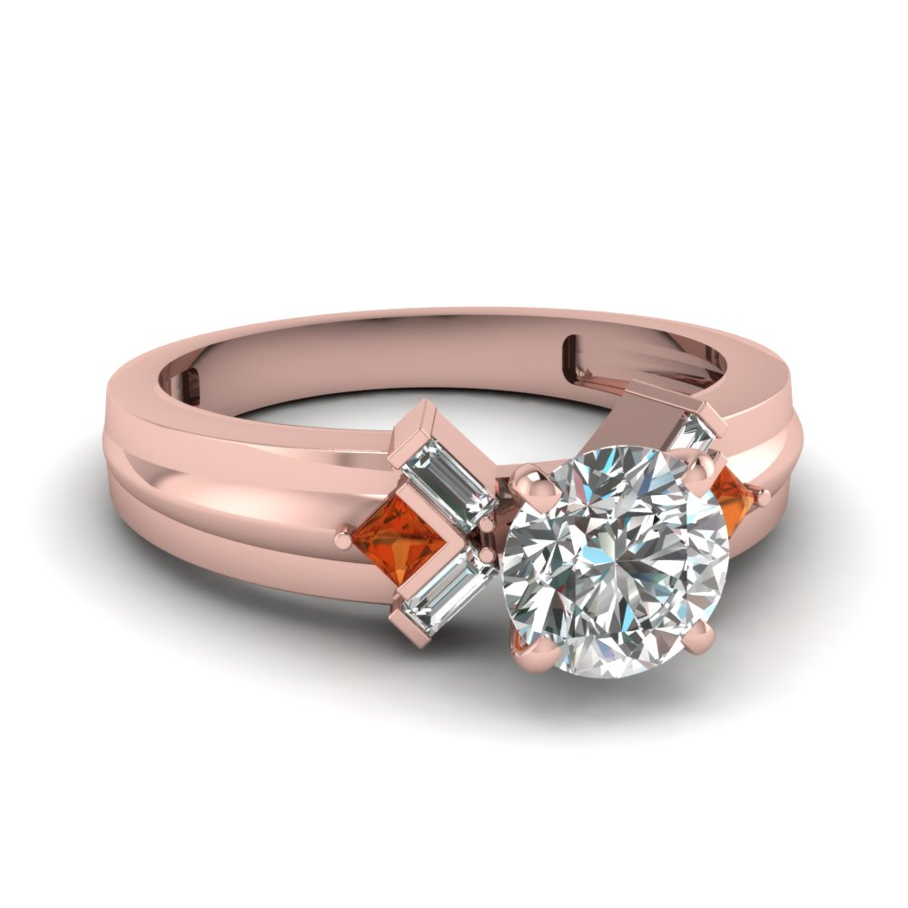 Princess Cut Baguette Ring